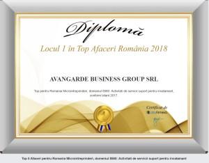 Top 2018-lista firme- avanga